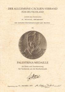 Palestrina Urkunde m
