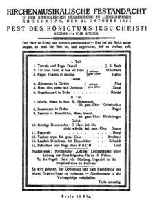 Festandacht 1926