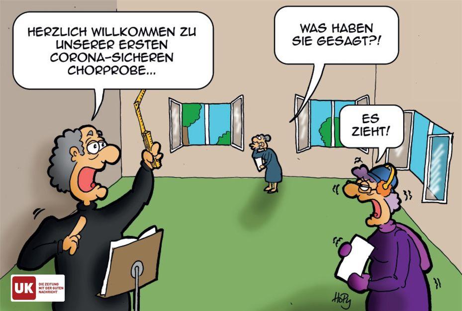 Cartoon Coronachorprobe